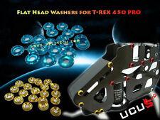 Sliver CNC Flat Head Washers for T-Rex 450 PRO T-rex