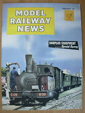 VINTAGE MAGAZINE MODEL RAILWAY NEWS FEBRUARY 1959