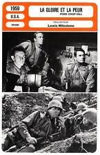 FICHE CINEMA : LA GLOIRE ET LA PEUR - Peck,Torn,Milestone 1959 Pork Chop Hill