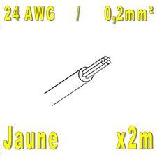 0,2mm² Jaune 2m Fil de cablage 24AWG