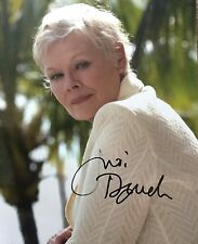 Judi Dench signed 10x8 Image I photo (UACC Registered AFTAL approved dealer COA)