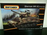 Matchbox Kit di Montaggio 1:35 40712 SHERMAN M4 A1 76mm GUN Tank MIB, 1993