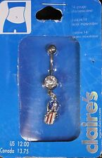 CLAIRE'S PATRIOTIC USA FLIP FLOP BELLY BUTTON RING STARS STRIPES RED,WHITE, BLUE