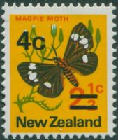 New Zealand 1971 SG957 4c on 2½c Moth MNH