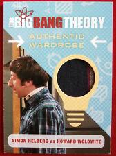 The Big Bang Theory - Howard Wolowitz - Seasons 6/7 Wardrobe / Costume Card, M33