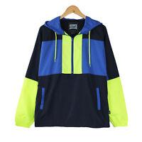 Teen's Men Hooded Lightweight Windbreaker Pullover Outdoor Jacket Christmas Gift