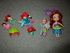 "Disney-Little Mermaid-Ariel  Doll 5""  Princess Baby 4""-Figures-lot D3"
