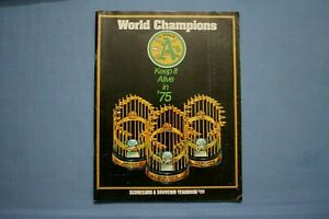 1975 Oakland Athletics Scorecard-Yearbook ex unscored