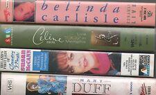 4 MUSIC VIDEOS VHS  SUSAN McCANN MARY DUFF BELINDA CARLISLE CELINE DION