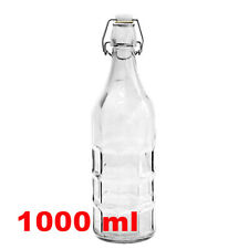 1 Litre  1000ml   Glass Swing-top Bottle, Wine, Beer, Cider - Extruded