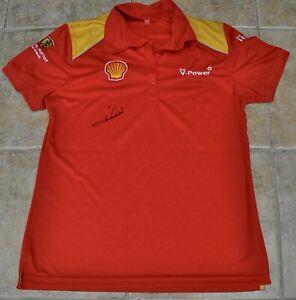 Mario Andretti Signed Shell Ferrari Shirt F1 Size XL Goodwood Fesival of Speed