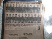 Baseball Ty Cobb Newspaper BATS OVER 300 + FOOTBALL DENVER MINERS TEAM PHOTO