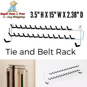 Mount Organizer Tie Belt Rack Holder Scarf Necklace Jewelry Hanger Wall Door NEW