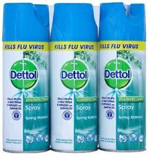 3 x Dettol Disinfectant Spray Spring Waterfall 400ml - Kills 99.9% of Bacteria