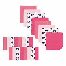 """LUVABLE FRIENDS 24 PIECES BABY BOYS WASHCLOTHS 9"""" X 9"""" PINK BOWS NEW"""