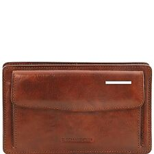 Tuscany Leather DENIS Exclusive leather handy wrist bag for man Genuine Leather