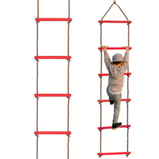 Kids Rope Ladder Sport Swing Childrens Outdoor Indoor Climbing Frame Sturdy Toy