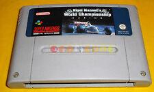 NIGEL MANSELL WORLD CHAMPIONSHIP RACING Super Nintendo SNES PAL ○ SOLO CARTUCCIA