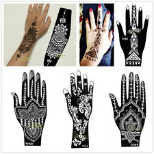 1PC India Mehndi Hand Leg Foot Henna Stencil Henna Art Temporary Tattoo Template