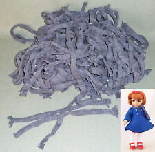 "Dozens! of Blue Knit Mufflers Scarves for 9-10"" Dolls Wholesale Lot, Factory"