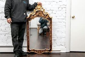 Black And Gold Chinoiserie Statement Mirror