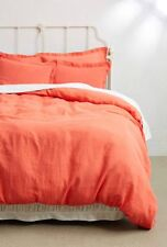Anthropologie SOFT WASHED LINEN Pillow Shams Set/2 KING Pillowcases Portugal NWT