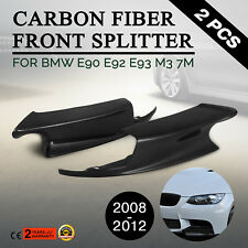 CARBON FIBER FRONT BUMPER LIP SPLITTERS SPOILER 2PCS FOR 08-2012 BMW E90 E92 M3