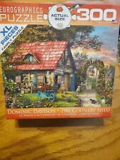 EUROGRAPHICS 300 PIECE PUZZLE ~ THE COUNTRY SHED BY 2016 Used Complete