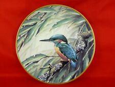 assiette porcelaine plate édition limitée birds signée T James Bond oiseaux 3