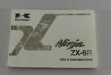 Uso e manutenzione kawasaki ninja zx-6r EDIZIONE 2001