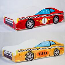 Racing CAR Toddler Children Kids Bed with Mattress BOYS & GIRLS 140x70 or 160x80