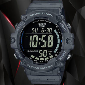Casio AE1500WH-8BV WIDE FACE Digital Watch 100M WR 10 Year Battery 5 Alarms New