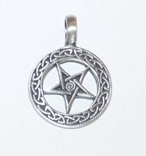 Celtic Pentagram & Spiral Pewter Pendant. Pagan/ Wiccan/ Occult.