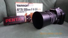 Pentax K-x with Pentax 18-55mm lens and Tamron 70-300mm lens Ideal for Beginners