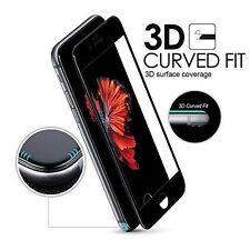 Para Apple iPhone 7 Negro 3D Completo Curvo Vidrio Templado Film Protector de pantalla