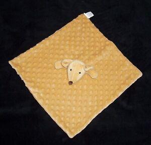 Okie Dokie Tan Brown Mouse Minky Dot Baby Blanket Security Lovey