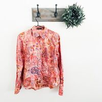 Etro Pink Floral Button Down Blouse 46/10
