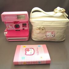 Rare Sanrio Hello Kitty Instant Polaroid Camera 600 & Photo Album From Japan F/S