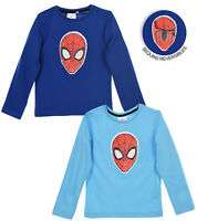 Spiderman Character Boys Long Sleeve Top T-Shirt Reversible Sequins 2-8 years
