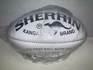 AFL SHERRIN KB KANGAROO BRAND WHITE AUSTRALIAN MADE LEATHER GAME BALL FOOTBALL