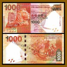 Hong Kong 1000 (1,000) Dollars, 2016 P-216e HSCB Unc