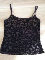 """Monsoon Brown Sparkly Strappy Top Size 10 Length 20"""""""