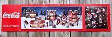 Coca Cola Sign Cardboard Store Poster Town Square Christmas Village 1996 48""