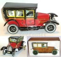 MS805 Red Classic Paya Taxi Retro Clockwork Wind Up Tin Toy w/Box