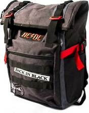 7bba2047bc5 AC/DC Back in Black Roll Top Rock & Roll School Book Bag Backpack  BP00359ACDU