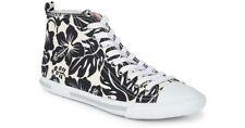 Retail $495 Prada Black White Printed Hi-Top Sneakers Sz 39/8.5