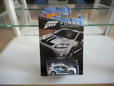 Hotwheels Forza Motorsport Ford Focus RS in White on Blister