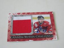 YANN SAUVE AUTOGRAPHED 2007 ITG CANADA/RUSSIA GAME USED JERSEY CARD 1 OF 50