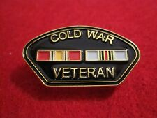 COLD WAR VETERAN Victory Medal,  Double Ribbon Pin/Badge Cold War Vets..
