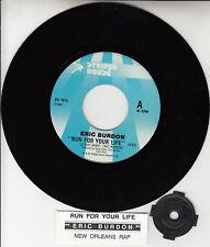 "ERIC BURDON Run For Your Life & New Orleans Rap 7"" 45 record NEW + jukebox strip"